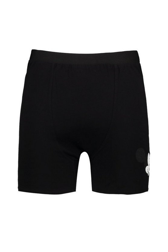 Mens Black Big And Tall Disney Mickey Wink Boxers