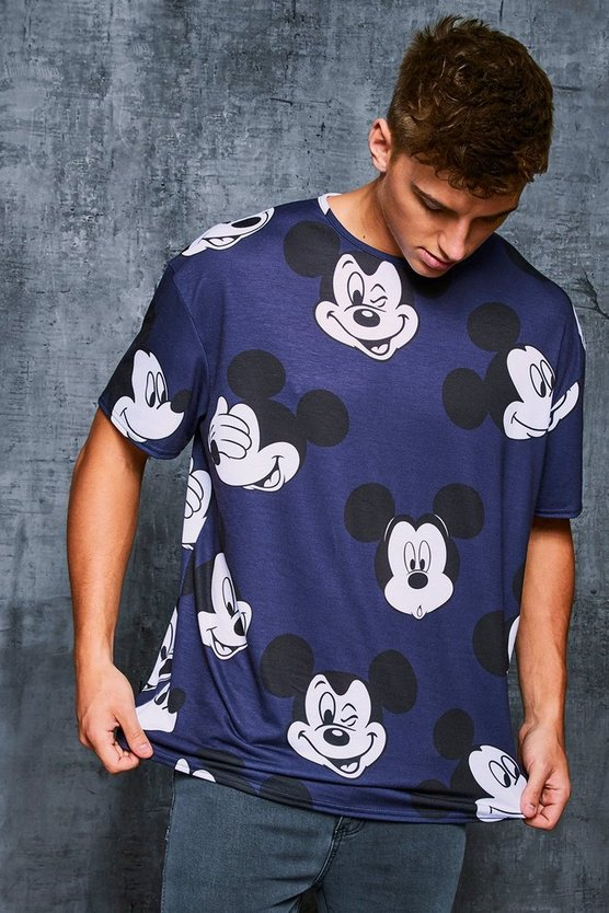 Disney Mickey Printed Oversized T-Shirt