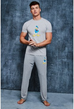 Ensemble de Pyjama Disney Donald Duck, Gris, Homme
