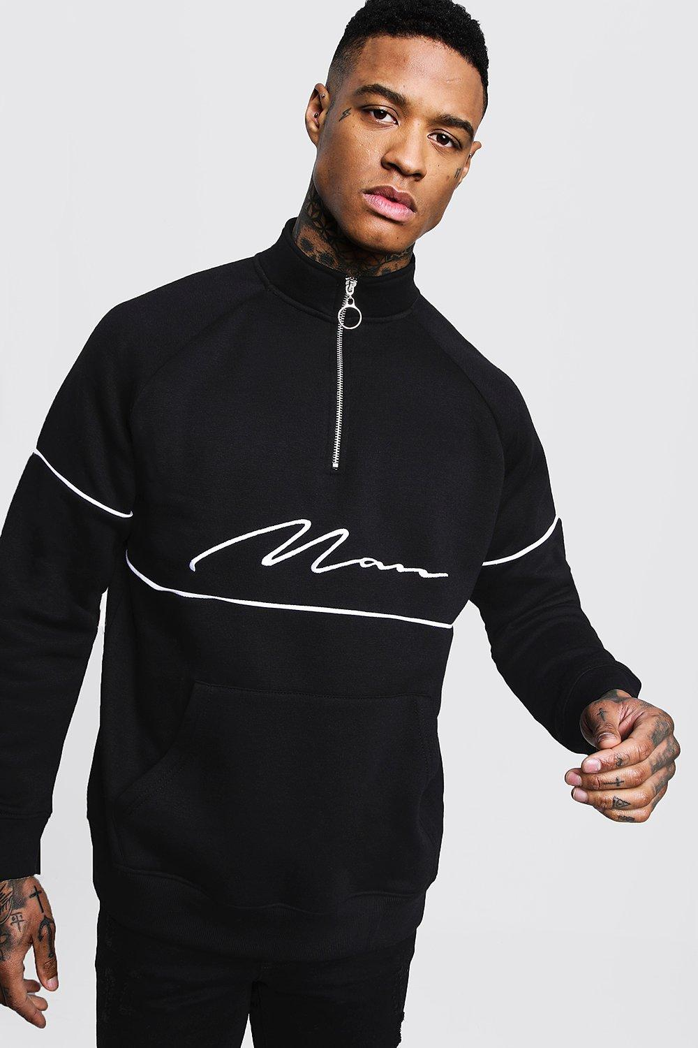 MAN Signature Track Top With Contrast Piping