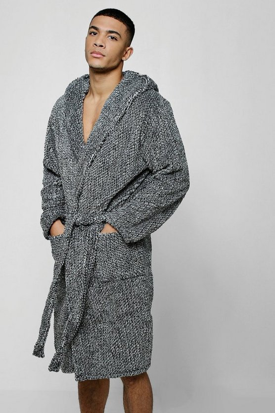 Two Tone Hooded Robe