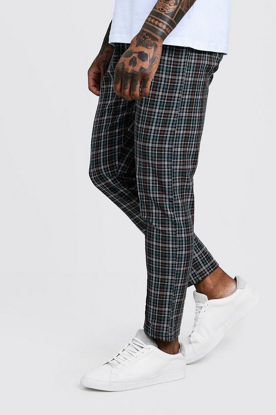 Check Smart Jogger Cropped Trouser