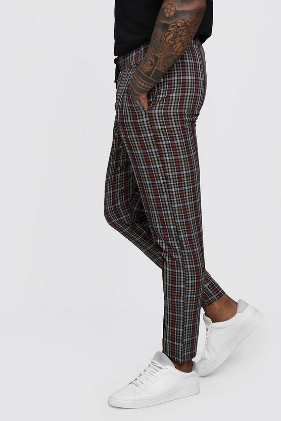 Check Smart Cropped Jogger Trouser