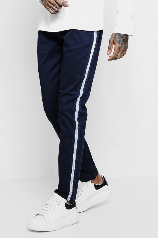 Slim Fit Trouser With Side Stripe Panel