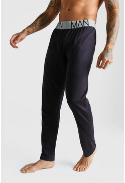 Mens Black MAN Lounge Pants