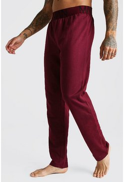 Mens Burgundy MAN French Terry Lounge Pants
