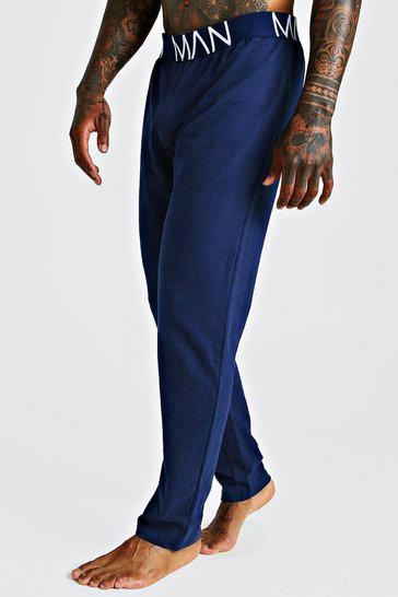 Mens Navy MAN French Terry Lounge pants