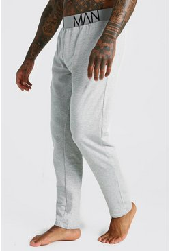 Mens Grey marl MAN French Terry Lounge Pants