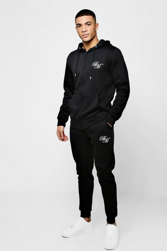 Jersey BM Skinny Zip Through Tracksuit