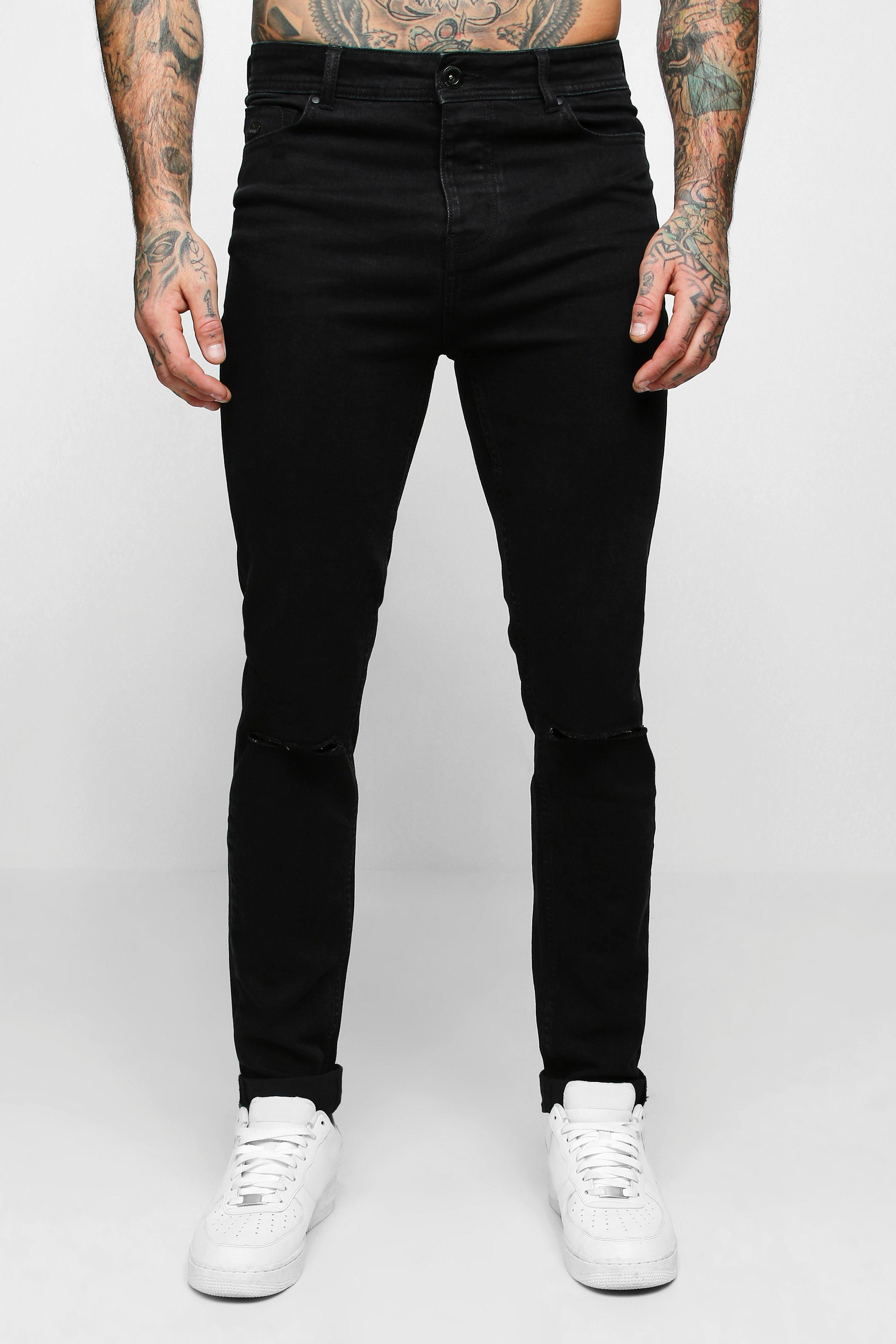 Skinny Fit Jeans With Ripped Knee