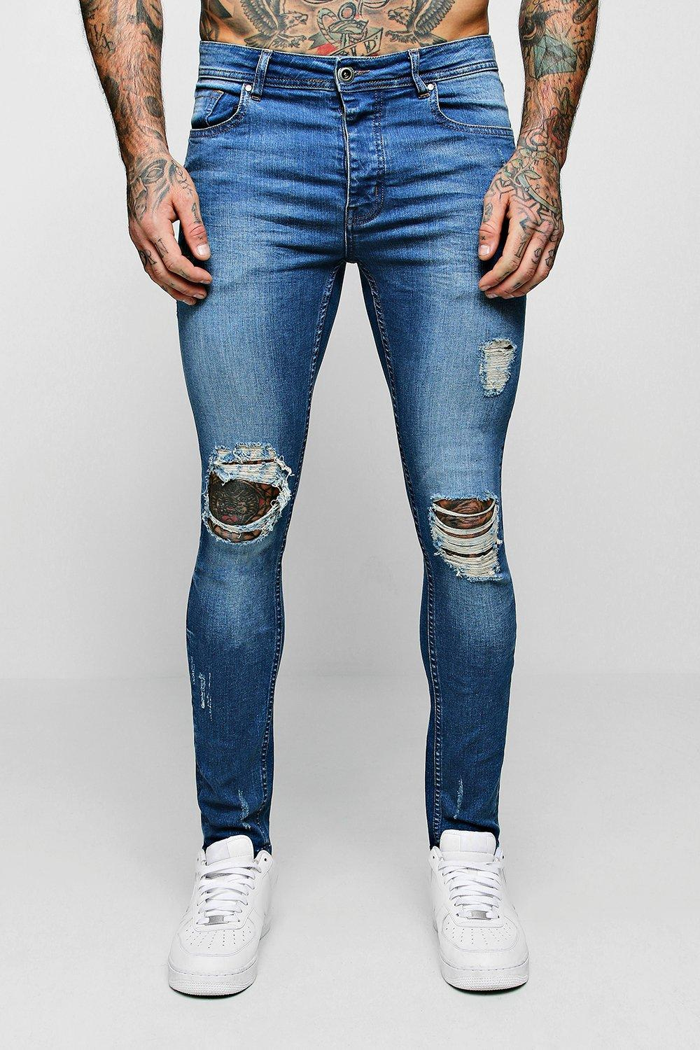 Super Skinny Fit Jeans With Distressing