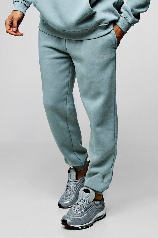 Loose Fit Heavyweight Washed MAN Jogger