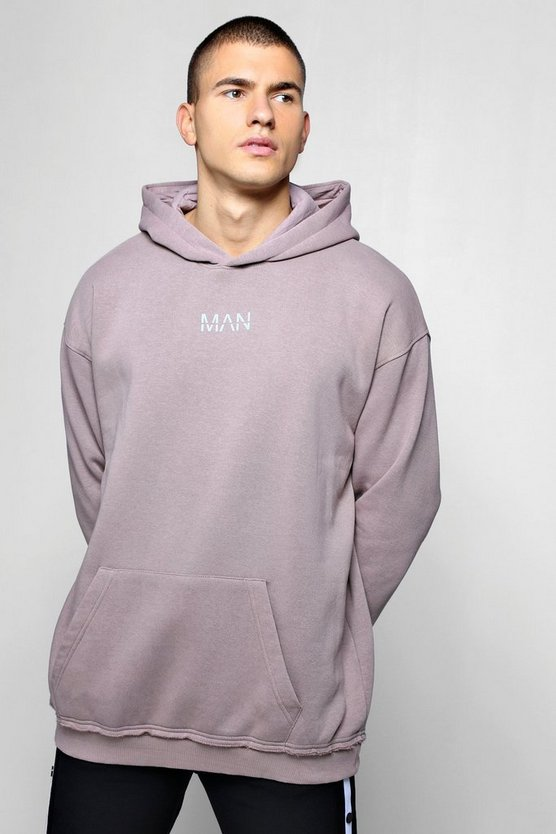 Oversized Heavyweight MAN Reflective Hoodie