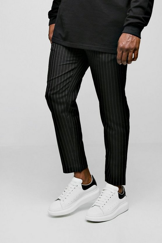 Big & Tall Woven Cropped Pinstripe Jogger