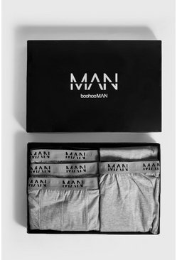 Boxer & Lounge Pants MAN Branded Gift Box, Grey, Мужские