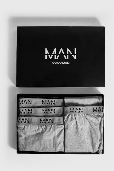 Mens Grey Boxer & Lounge Pants MAN Branded Gift Box