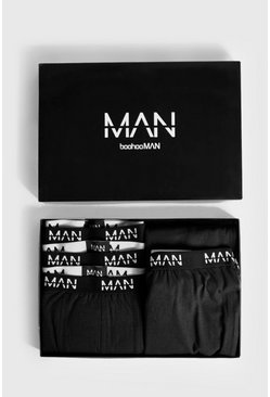 Mens Black Boxer & Lounge Pants MAN Branded Gift Box