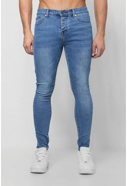 Mens Spray On Skinny Jeans In Vintage Wash