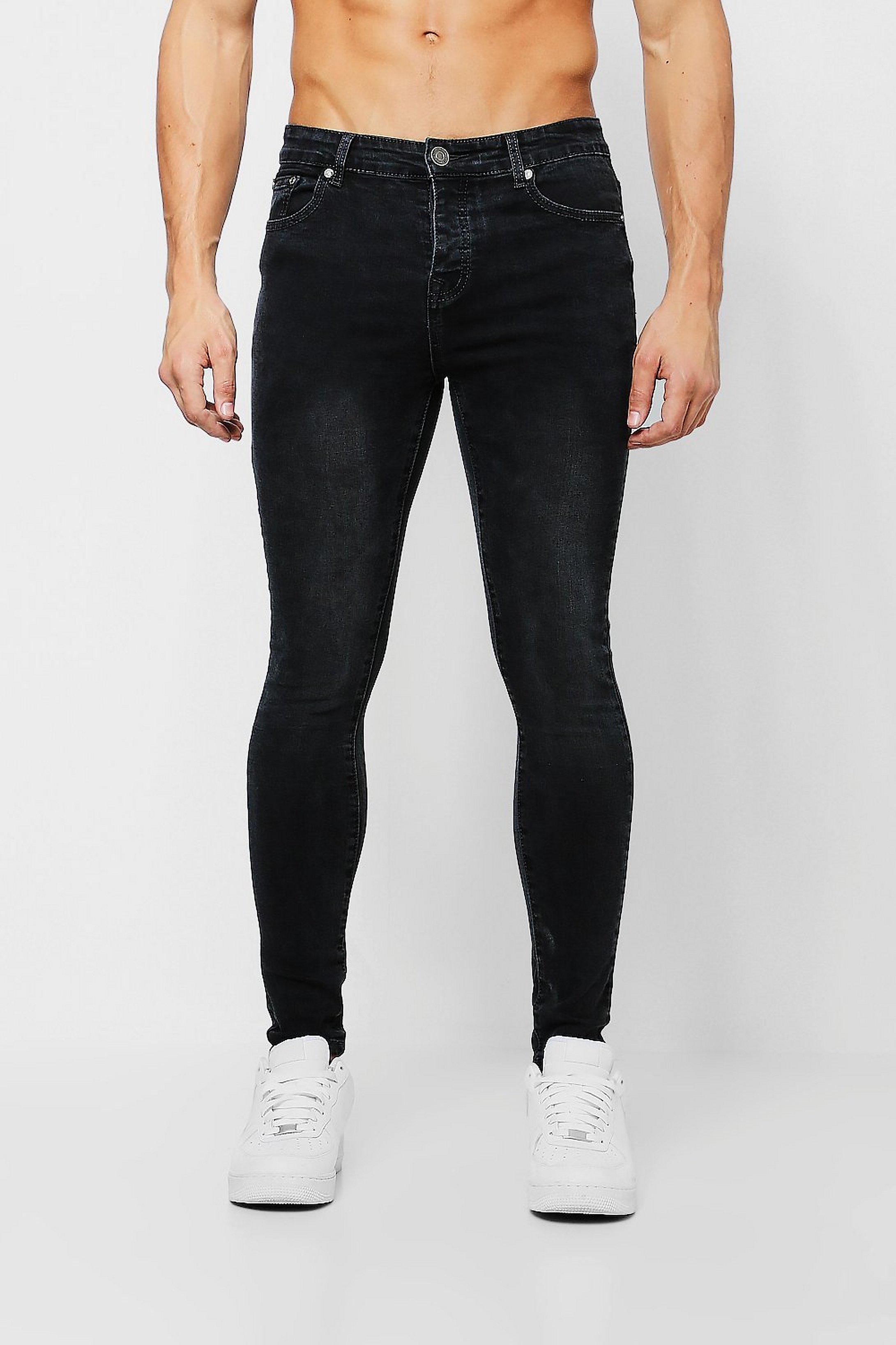 dcbfd9c96373b Spray On Skinny Jeans in schwarzer Waschung