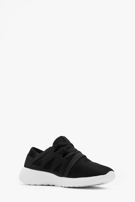Mesh Front Lace Up Trainer