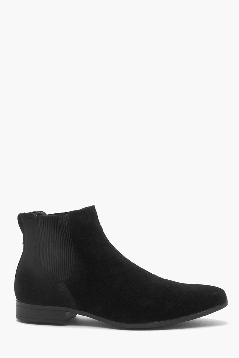 Faux Suede Chelsea Boot