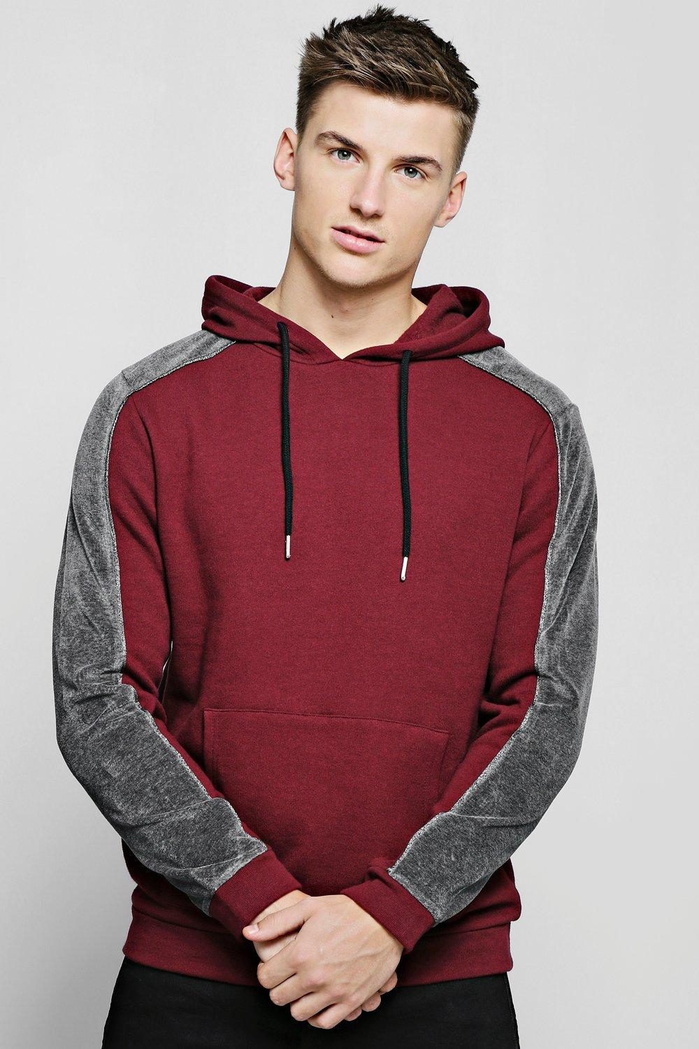 Party Over The Head Hoodie With Velour Piping