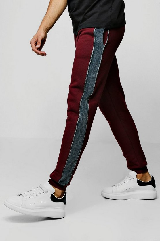 Skinny Party Jogger With Velour Side Tape
