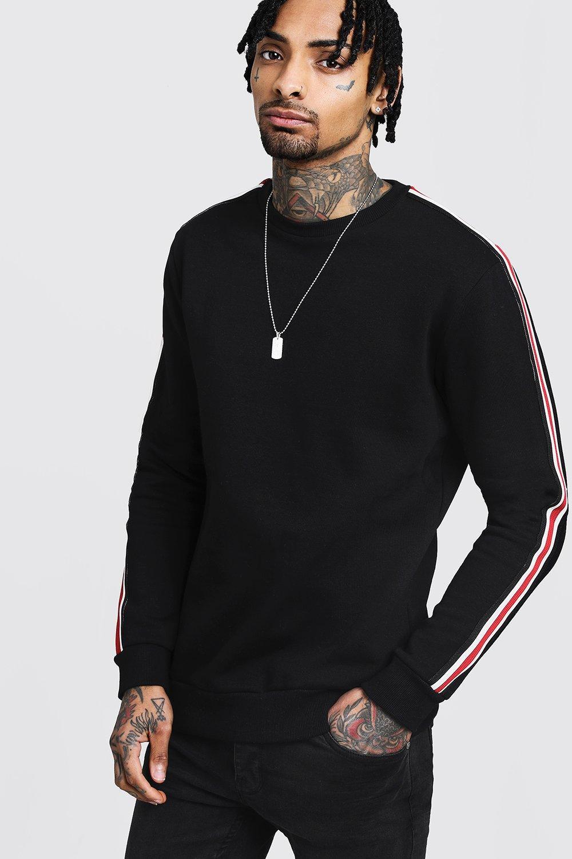 Side Tape Detail Sweatshirt