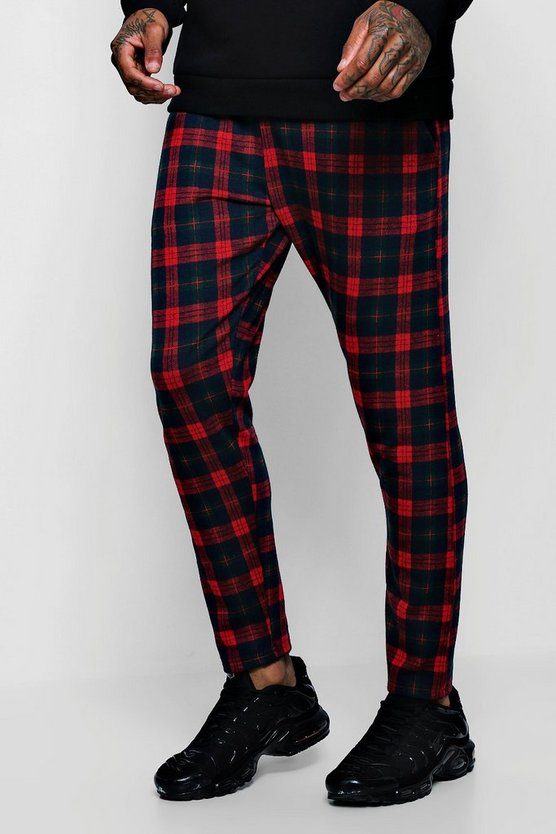 Tartan Skinny Fit Cropped Jogger