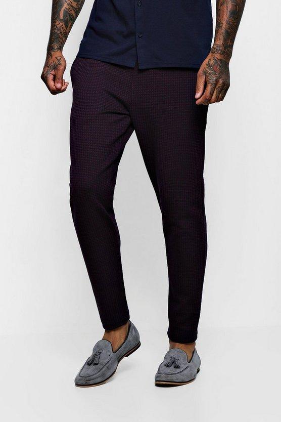 Skinny Fit Textured Jacquard Cropped Jogger