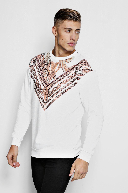 Baroque Chevron Print Sweater