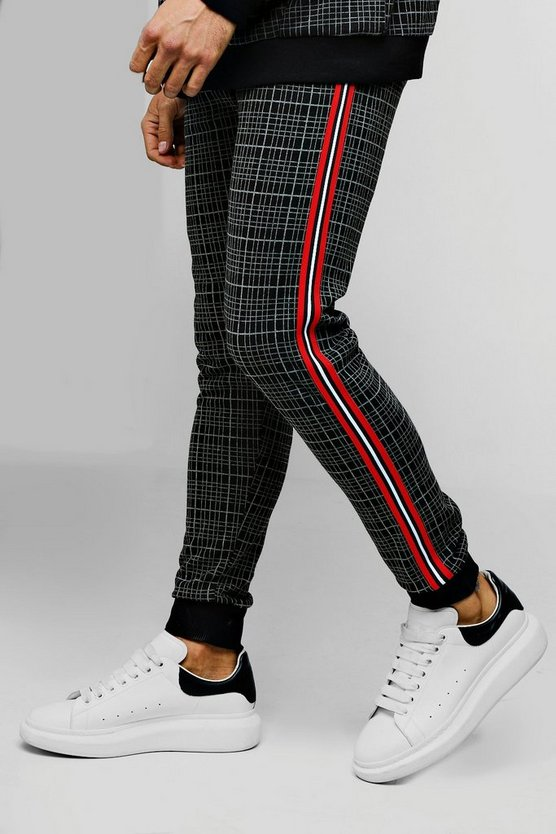 Skinny Fit Check Tapered Jogger