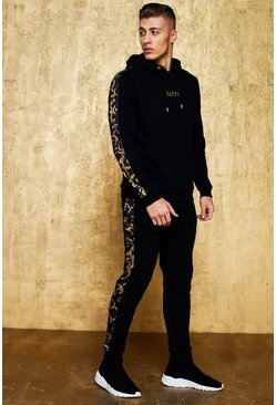Herr Black Original MAN Tracksuit With Baroque Panel