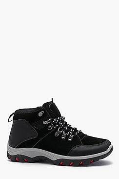 Faux Suede Hiker Boot
