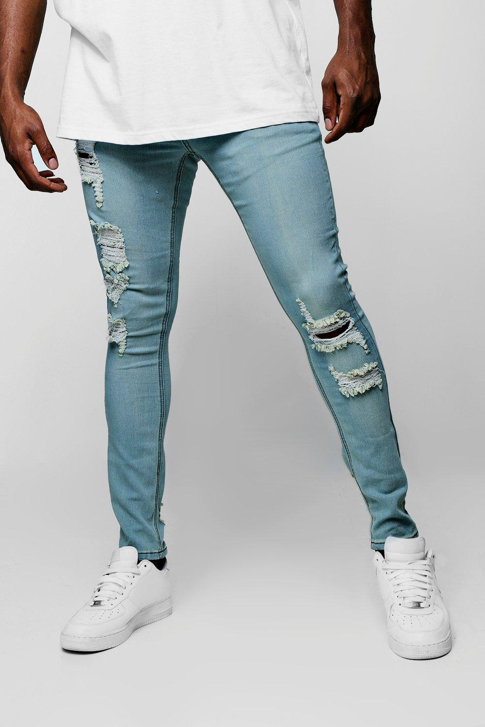 Big & Tall Distressed Skinny Fit Jeans