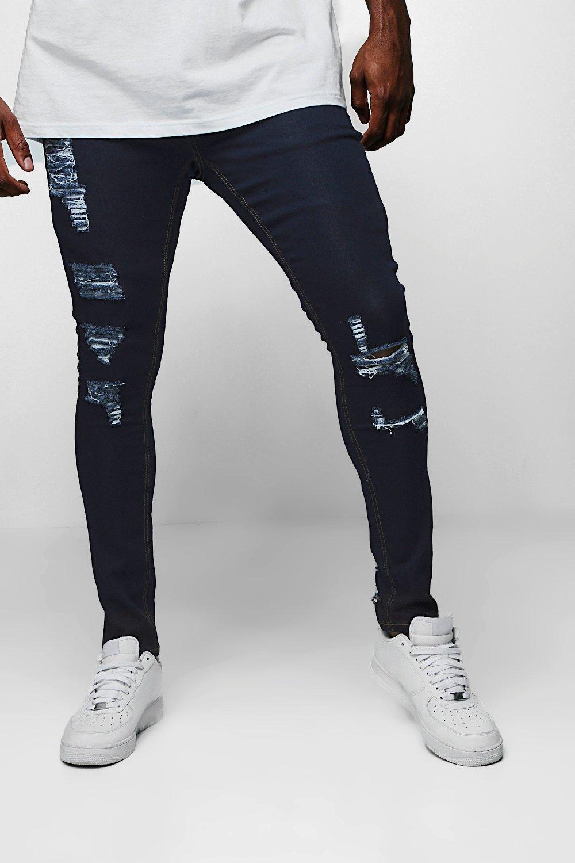 Big & Tall Distressed Skinny Fit Jeans