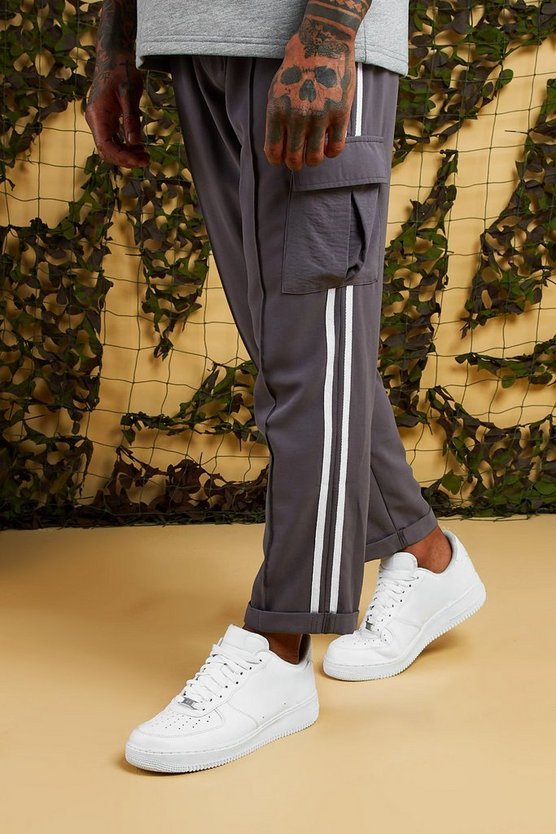 Smart Woven Cargo Trouser With Tape