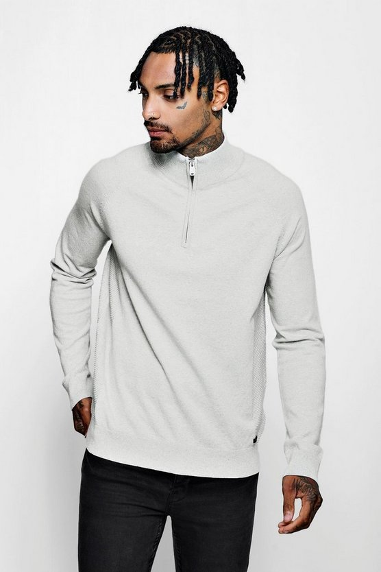 Funnel Neck Zip Muscle Jumper