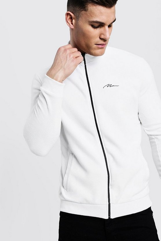 Fleece Zip Through MAN Signature Track Top