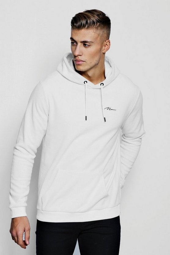 MAN Signature Fleece Over The Head Hoodie