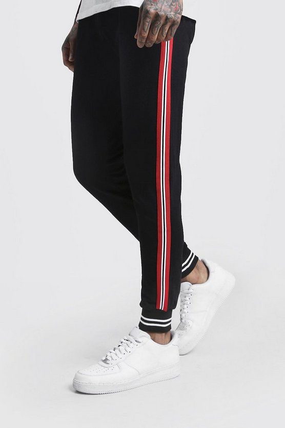 Side Tape Cuffed Jersey Joggers