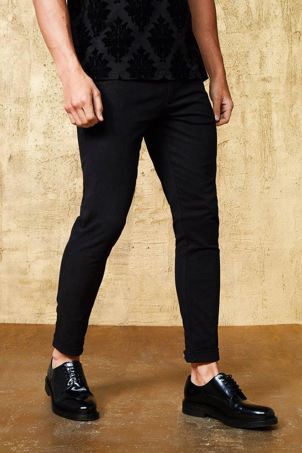 d9795ec2fd0b Skinny Fit Plain Suit Trouser With Pin Tuck | Boohoo