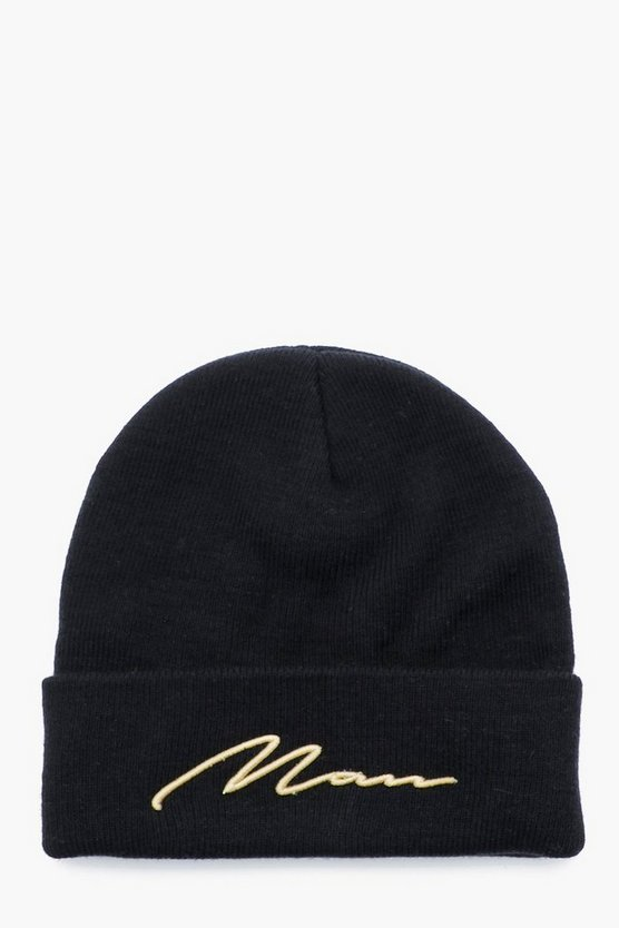 MAN Gold 3D Embroidery Beanie