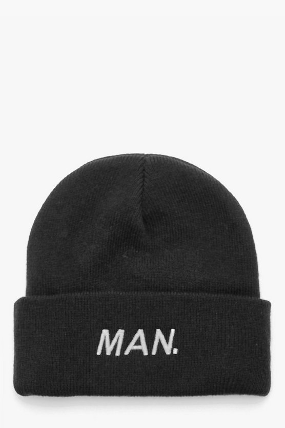 MAN Silver Embroidery Beanie