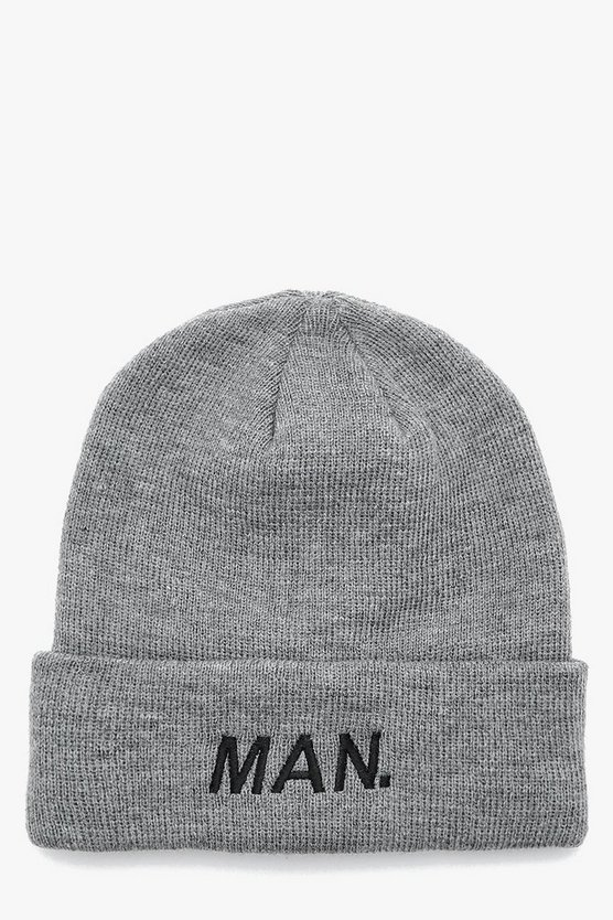 MAN Embroidered Beanie