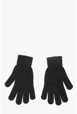 Herr Black Mens Thermal Magic Gloves