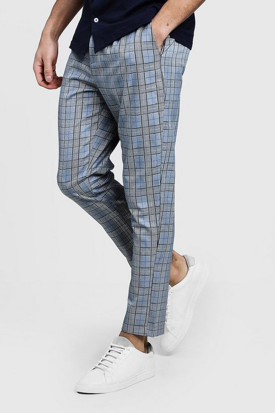 Check Formal Cropped Trouser