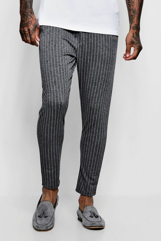 Wide Pinstripe Tailored Jogger