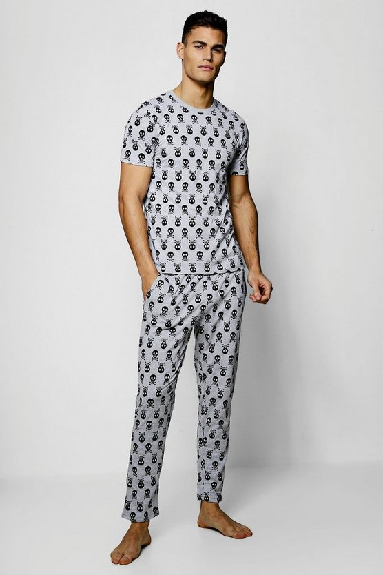 Halloween Skull & Cross Bones Pyjama Set