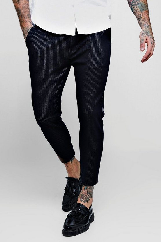 Woven Fine Pinstripe Tapered Jogger